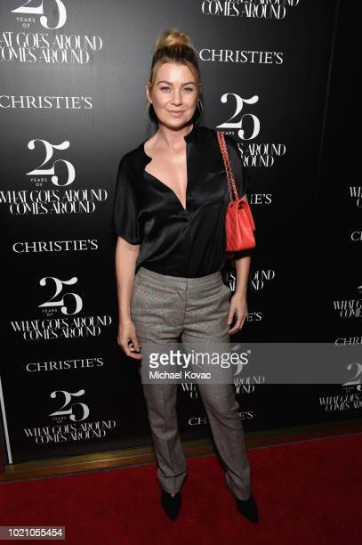Ellen Pompeo attends Christie's x What Goes Around Comes Around 25th Anniversary Auction Preview at What Goes Around Comes Around on August 21 2018...