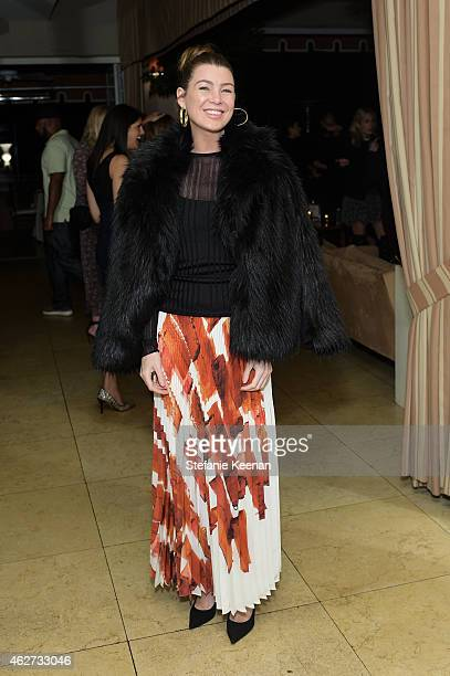 Ellen Pompeo attends Gilt And Celebrate The Launch Of Jennifer Meyer xo Jessica Alba at Sunset Tower Hotel on February 3 2015 in West Hollywood...