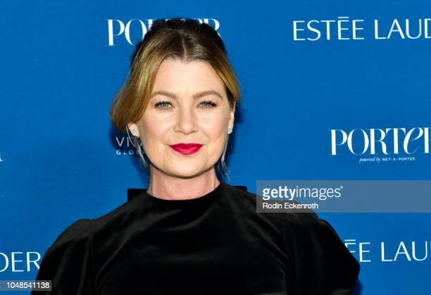 Ellen Pompeo attends PORTER's Incredible Women Gala 2018 at Ebell of Los Angeles on October 9 2018 in Los Angeles California