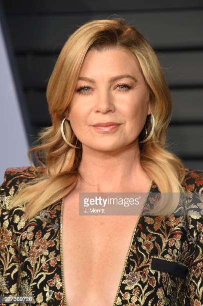 Ellen Pompeo attends the 2018 Vanity Fair Oscar Party hosted by Radhika Jones at the Wallis Annenberg Center for the Performing Arts on March 4, 2018...
