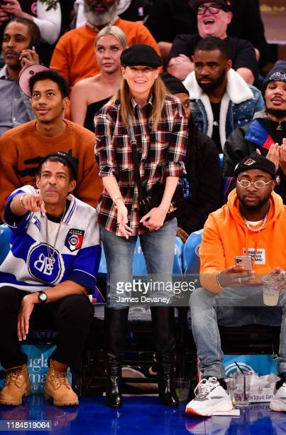 Ellen Pompeo attends the Brooklyn Nets v New York Knicks game at Madison Square Garden on November 24 2019 in New York City