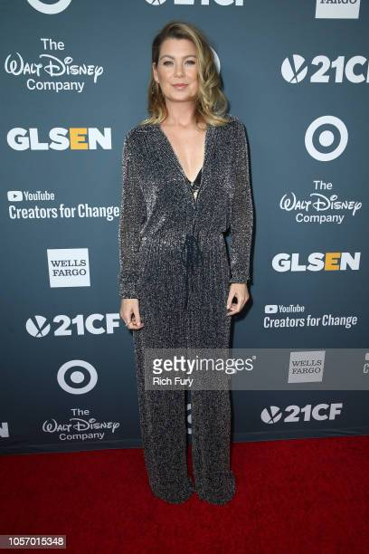Ellen Pompeo attends the GLSEN Respect Awards at the Beverly Wilshire Four Seasons Hotel on October 19 2018 in Beverly Hills California