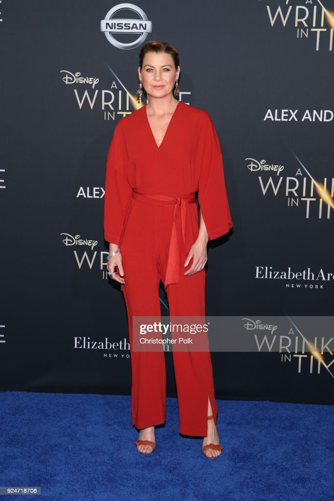 Ellen Pompeo attends the premiere of Disney's 'A Wrinkle In Time' at the El Capitan Theatre on February 26, 2018 in Los Angeles, California.