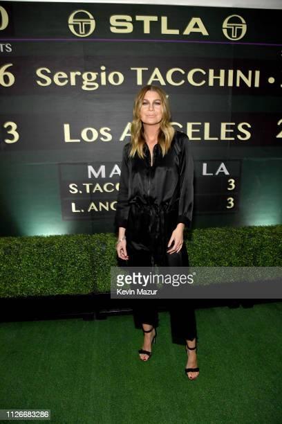 Ellen Pompeo attends the Sergio Tacchini STLA Launch on February 21 2019 in Los Angeles California