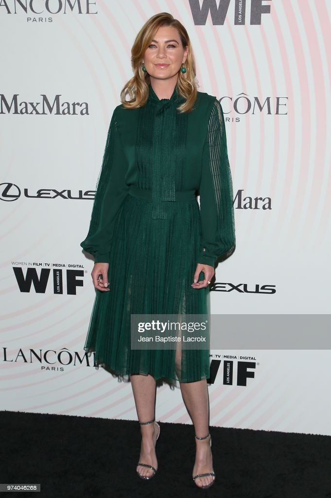 Ellen Pompeo attends the Women In Film 2018 Crystal + Lucy Awards at The Beverly Hilton Hotel on June 13, 2018 in Beverly Hills, California.