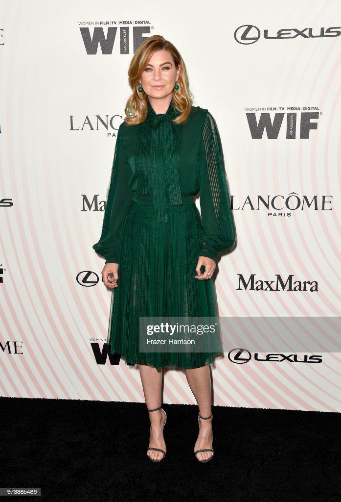 Ellen Pompeo attends the Women In Film 2018 Crystal + Lucy Awards presented by Max Mara, Lancôme and Lexus at The Beverly Hilton Hotel on June 13, 2018 in Beverly Hills, California.