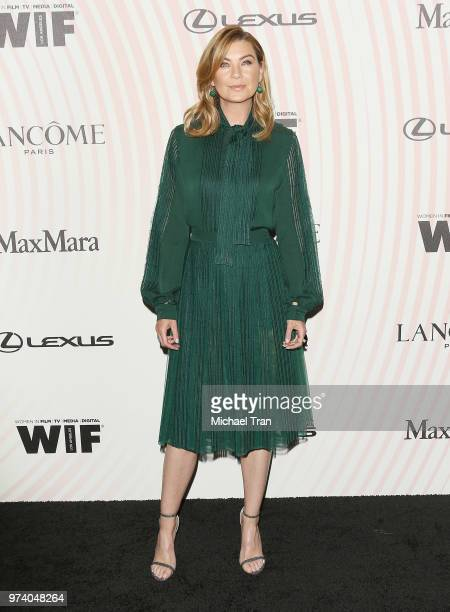 Ellen Pompeo attends the Women In Film 2018 Crystal Lucy Awards held at The Beverly Hilton Hotel on June 13 2018 in Beverly Hills California