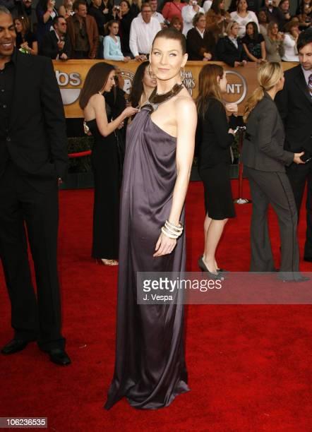 Ellen Pompeo during 13th Annual Screen Actors Guild Awards Arrivals at Shrine Auditorium in Los Angeles California United States
