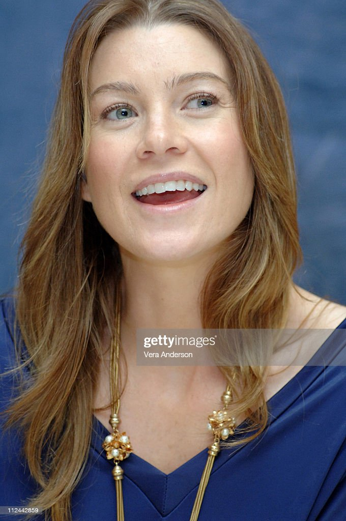 Ellen Pompeo during 'Grey's Anatomy' Press Conference with Ellen Pompeo, Patrick Dempsey, Sandra Oh, Katherine Heigl, Justin Chambers, Sara Ramirez, Kate Walsh and Isaiah Washington at Regent Beverly Wilshire in Beverly Hills, California, United States.