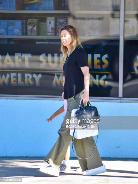 Ellen Pompeo is seen on October 27 2018 in Los Angeles California