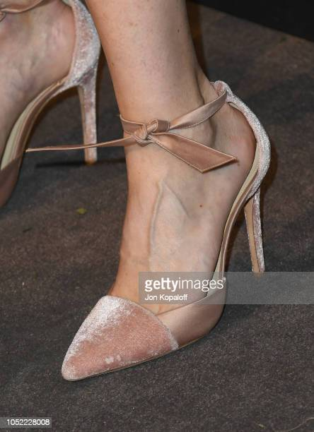 Ellen Pompeo shoe detail attends the 25th Annual ELLE Women In Hollywood Celebration at Four Seasons Hotel Los Angeles at Beverly Hills on October 15...