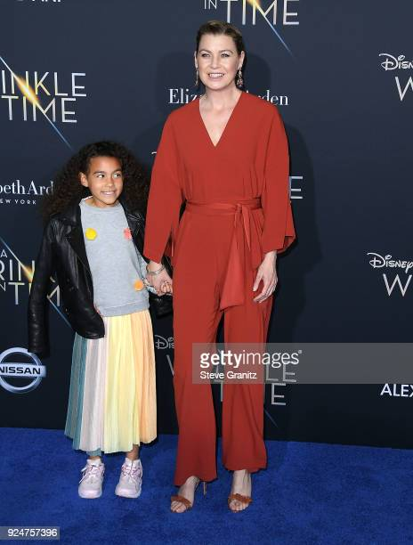 Ellen PompeoStella Ivery arrives at the Premiere Of Disney's A Wrinkle In Time on February 26 2018 in Los Angeles California