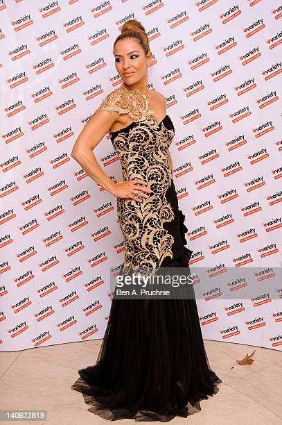 Ellen Rivas attends The Variety Club Annual Dinner at Grosvenor House on March 3 2012 in London England