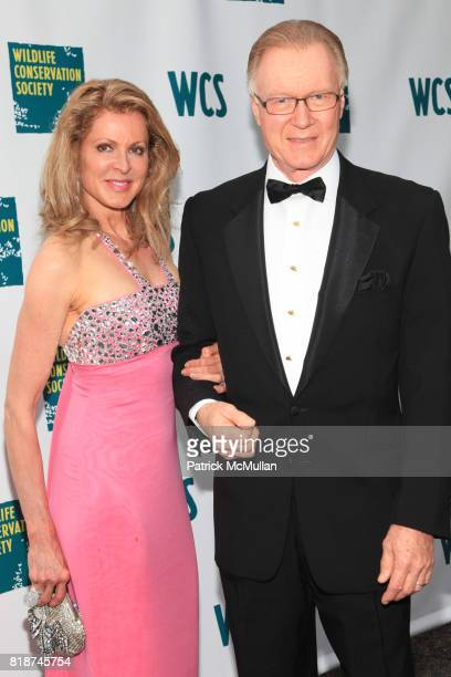 Ellen Scarborough and Chuck Scarborough attend Wildlife Conservation Society Spring 2010 Gala Flight of Fancy at Central Park Zoo on June 10 2010 in...