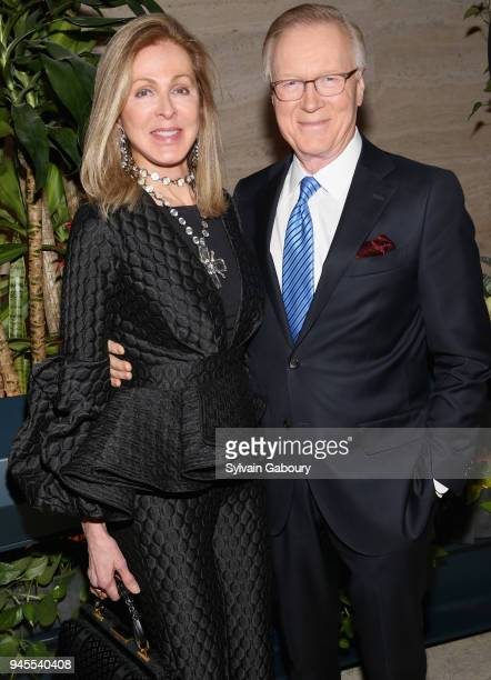 Ellen Scarborough and Chuck Scarborough attends The Hollywood Reporter's Most Powerful People In Media 2018 at The Pool on April 12 2018 in New York...