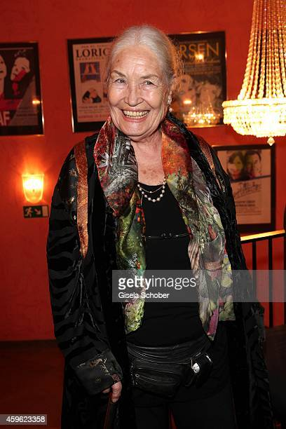 Ellen Schwiers during the premiere 'Mein Freund Harvey' at Komoedie im Bayerischen Hof on November 26 2014 in Munich Germany