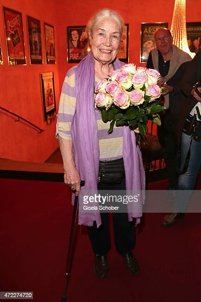 Ellen Schwiers during the premiere of the play 'Altweiberfruehling' at Komoedie im Bayerischen Hof on May 5 2015 in Munich Germany