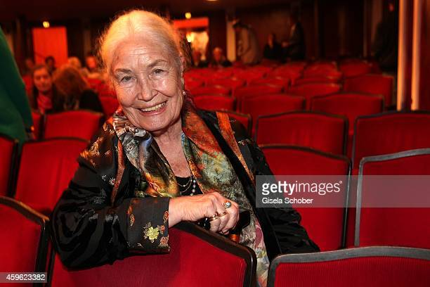 Ellen Schwiers mother of Katerina Jacob during the premiere 'Mein Freund Harvey' at Komoedie im Bayerischen Hof on November 26 2014 in Munich Germany