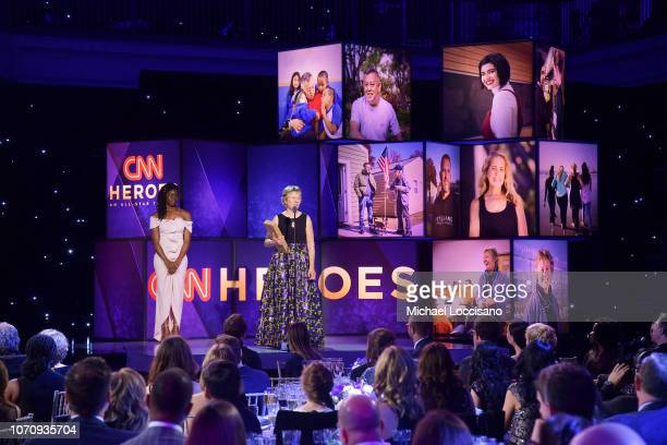 Ellen Stackable speaks onstage during the 12th Annual CNN Heroes An AllStar Tribute at American Museum of Natural History on December 9 2018 in New...