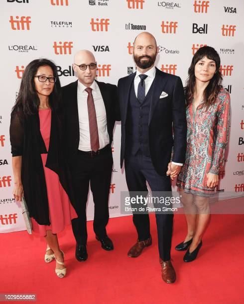 Ellen Uchimiya Matt Bai Jay Carson and Carly Jo Morgan attend 'The Front Runner' premiere at Ryerson Theatre on September 8 2018 in Toronto Canada