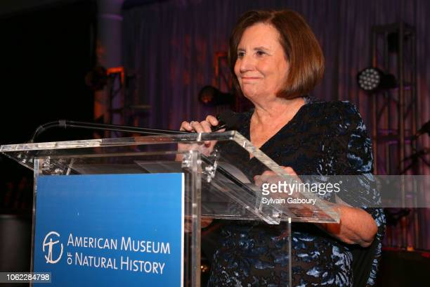 Ellen V Futter speaks at American Museum Of Natural History's 2018 Museum Gala at American Museum of Natural History on November 15 2018 in New York...