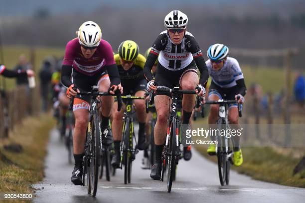 Ellen van Dijk of the Netherlands / 12th Ronde van Drenthe 2018 a 1572km race from Emmen to Hoogeveen on March 11 2018 in Hoogeveen Netherlands