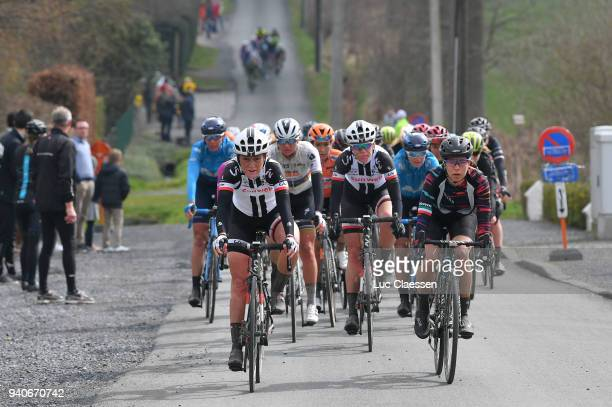 Ellen van Dijk of The Netherlands and Team Sunweb / Floortje Mackaij of Netherlands / Elena Cecchini of Italy and Team Canyon SRAM Racing / during...