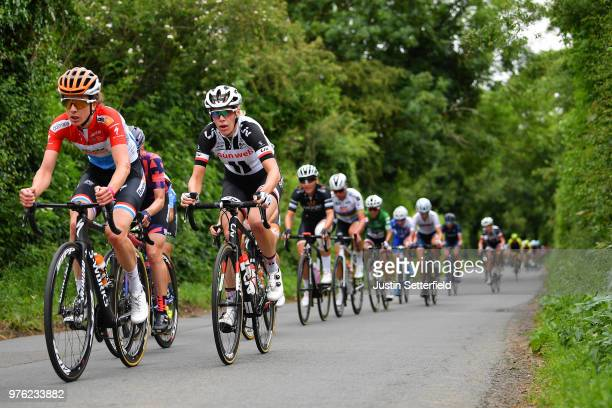 Ellen Van Dijk of The Netherlands and Team Sunweb / Peloton / during the 5th OVO Energy Women's Tour 2018 Stage 4 a 130km stage from Evesham to...
