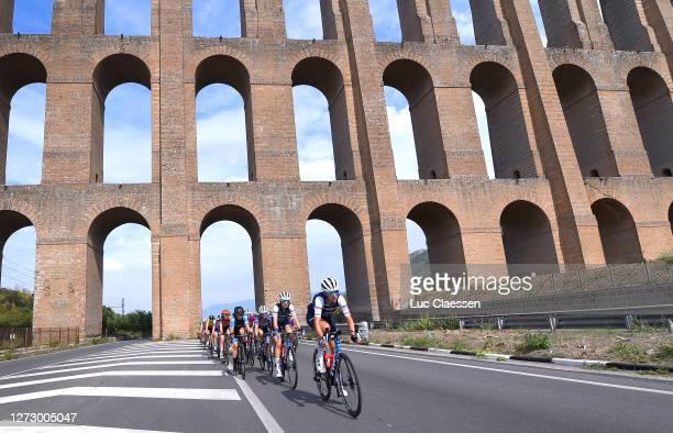 Ellen Van Dijk of The Netherlands and Team Trek - Segafredo / Tayler Wiles of The United States and Team Trek - Segafredo / Peloton / Viaduct /...