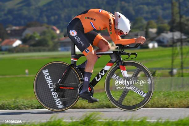 Ellen Van Dijk of The Netherlands / during the Women Elite Individual Time Trial a 27,8km race from Wattens to Innsbruck 582m at the 91st UCI Road...