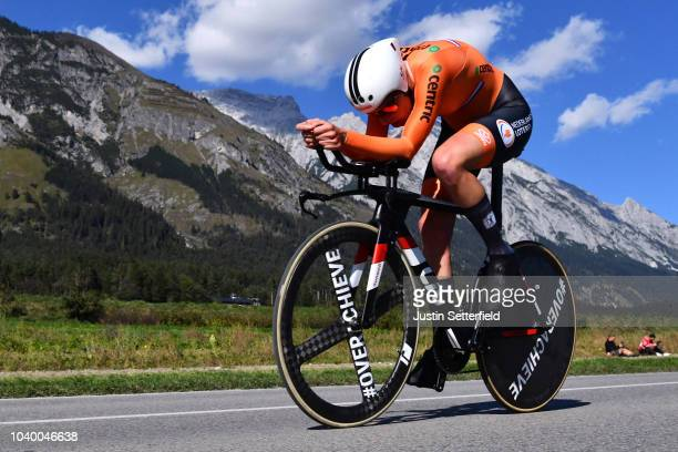 Ellen Van Dijk of The Netherlands / during the Women Elite Individual Time Trial a 278km race from Wattens to Innsbruck 582m at the 91st UCI Road...