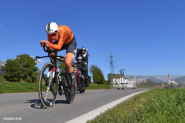 Ellen Van Dijk of The Netherlands / Landscape / Mountains / during the Women Elite Individual Time Trial a 27,8km race from Wattens to Innsbruck 582m...