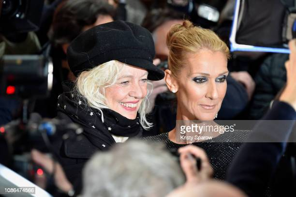 Ellen von Unwerth and Celine Dion attend the Alexandre Vauthier Haute Couture Spring Summer 2019 show as part of Paris Fashion Week on January 22...