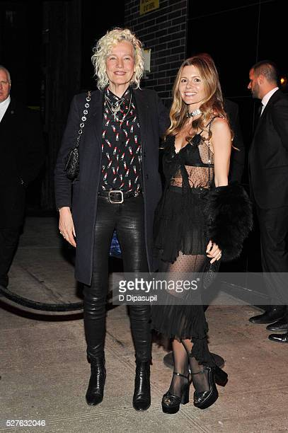Ellen von Unwerth and Elizabeth Sulcer are seen arriving at The Standard High Line on May 2 2016 in New York City