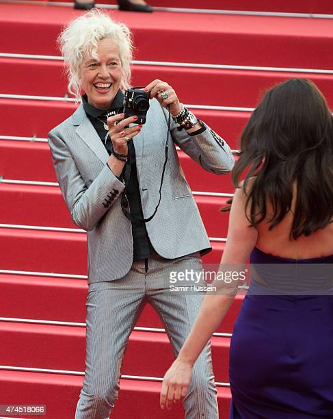 Ellen von Unwerth and Emma Miller attend the 'Macbeth' Premiere during the 68th annual Cannes Film Festival on May 23 2015 in Cannes France