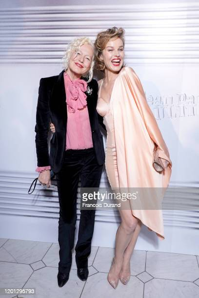 Ellen von Unwerth and Eva Herzigova attend the Jean-Paul Gaultier 50th Birthday Cocktail and Party at Theatre du Chatelet on January 22, 2020 in...
