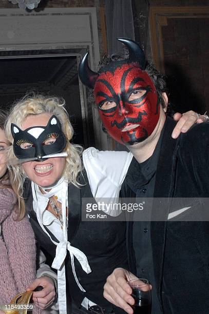 Ellen Von Unwerth and Her Husband Christian Beaugeste attend the Ellen Von Unwerth and Bridget Yorke Masked Birthday Party in a Private Flat Rue...