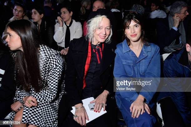 Ellen von Unwerth and Jeanne Damas attend the Christian Dior Haute Couture Spring Summer 2018 show as part of Paris Fashion Week on January 22 2018...