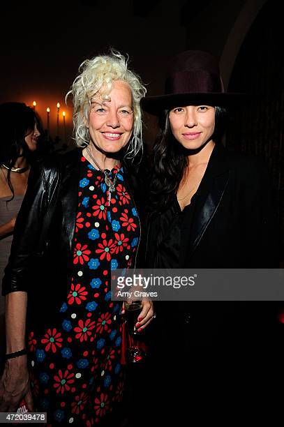 Ellen von Unwerth and Tasya van Ree attend the PHOTO Magazine Celebration of its Los Angeles Special Issue at the Chateau Marmont on May 2 2015 in...