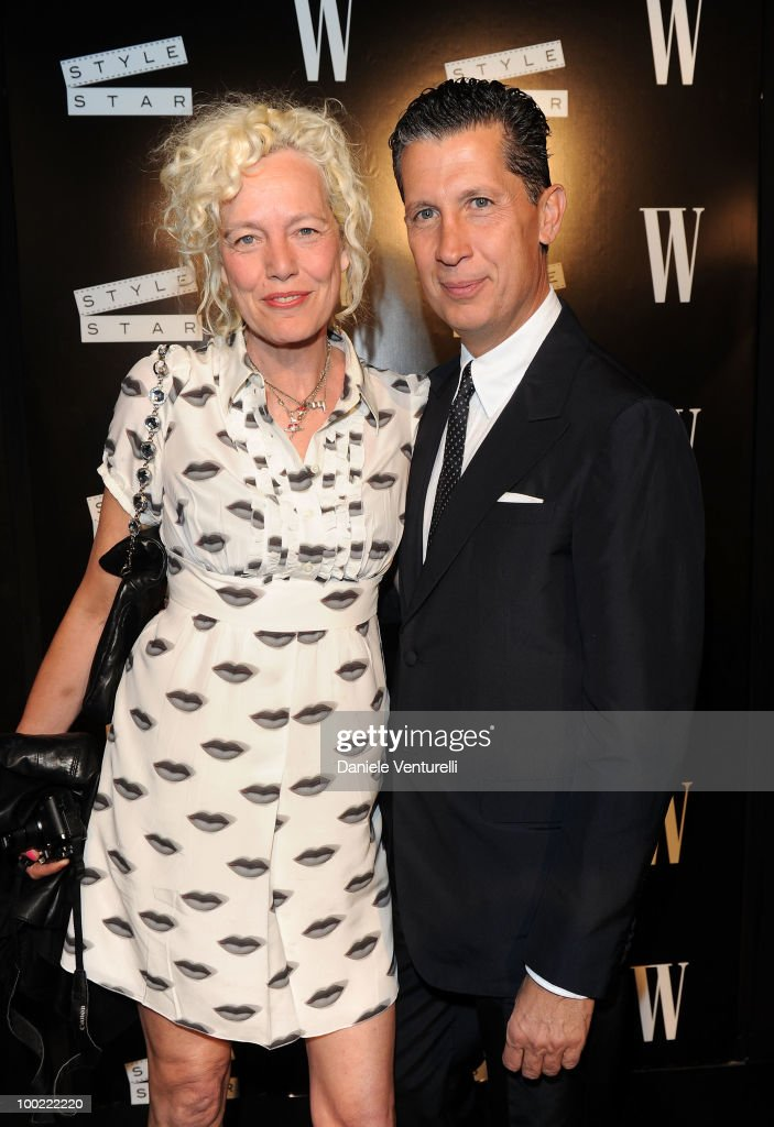Ellen von Unwerth (L) and W Magazine's Stefano Tonchi attend the Style Star Party at Carlton Beach during the 63rd Annual International Cannes Film Festival on May 21, 2010 in Cannes, France.