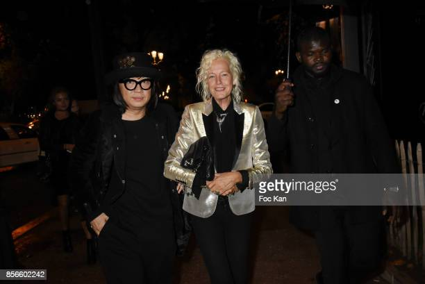 Ellen Von UnwerthÊ and Wayne K attend The Vogue Party Outside Arrivals as part of the Paris Fashion Week Womenswear Spring/Summer 2018 on October 1...