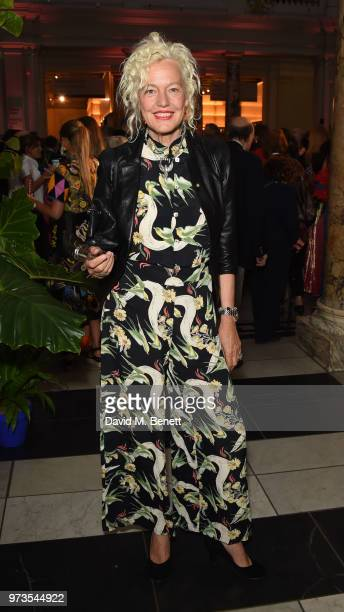 Ellen von Unwerth attends a private view of 'Frida Kahlo Making Her Self Up' at The VA on June 13 2018 in London England