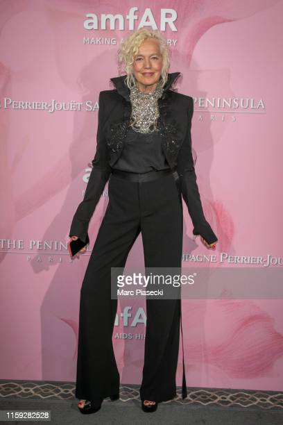 Ellen Von Unwerth attends the Amfar Gala At The Peninsula Hotel In Paris on June 30 2019 in Paris France