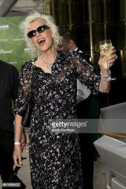 Ellen Von Unwerth attends the amfAR Paris Dinner at The Peninsula Hotel on July 4 2018 in Paris France