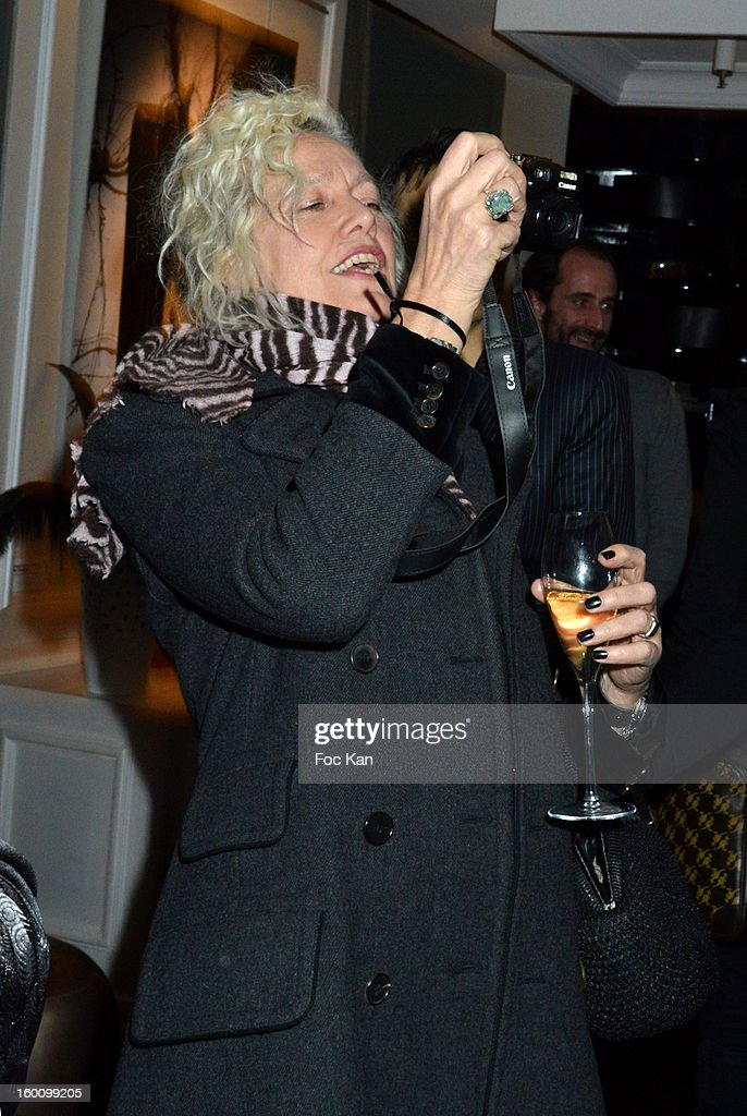 Ellen Von Unwerth attends the 'Body Double' Ali Mahdavi Exhibition Preview Cocktail At Hotel W on January 25, 2013 in Paris, France.