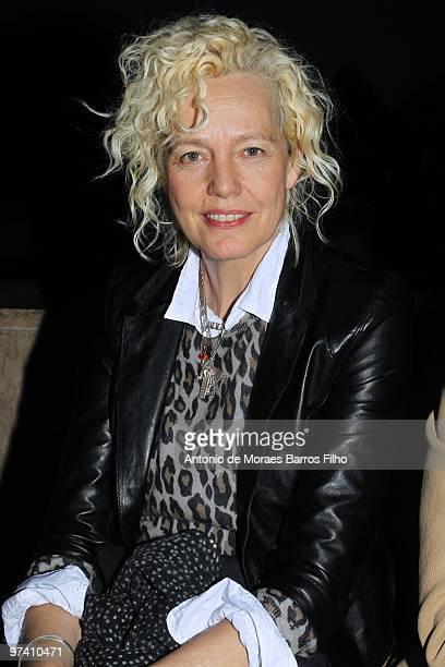 Ellen Von Unwerth attends the Gareth Pugh show during Paris Fashion Week Fall/Winter 2011 at the Palais De Tokyo on March 3 2010 in Paris France