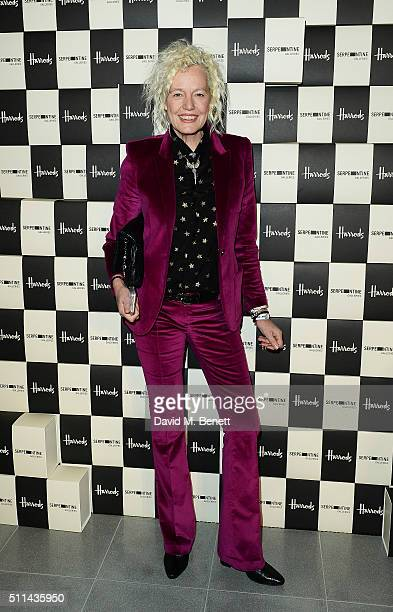 Ellen von Unwerth attends the Serpentine Future Contemporaries x Harrods Party 2016 at The Serpentine Sackler Gallery on February 20 2016 in London...