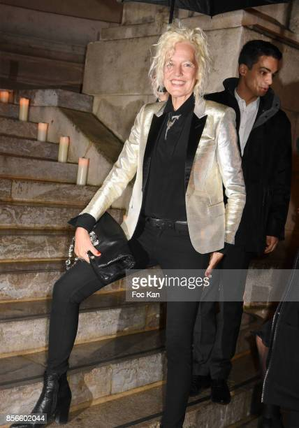 Ellen Von Unwerth attends The Vogue Party Outside Arrivals as part of the Paris Fashion Week Womenswear Spring/Summer 2018 on October 1 2017 in Paris...