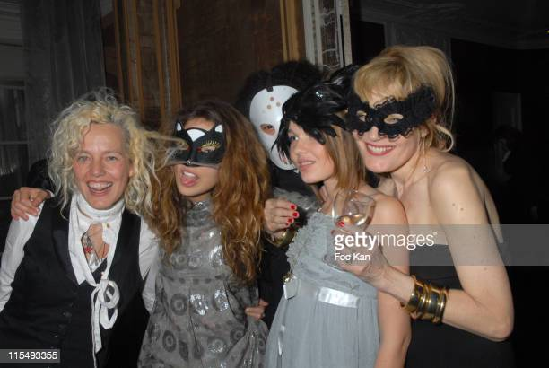 Ellen Von Unwerth Her Daughter Alice Yorke and Bridget Yorke attend the Ellen Von Unwerth and Bridget Yorke Masked Birthday Party in a Private Flat...
