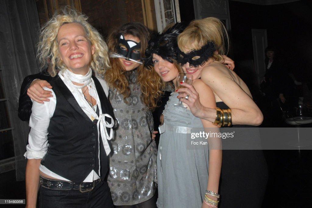 Ellen Von Unwerth and Bridget Cole Masked Birthday Party : News Photo